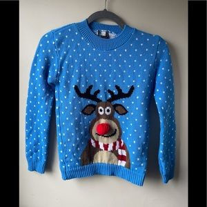 Girls rudolph Christmas sweater size 10